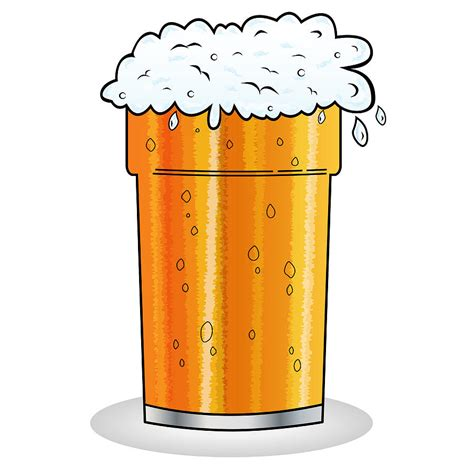 cartoon beer pint of beer cartoon style digital art by toots hallam