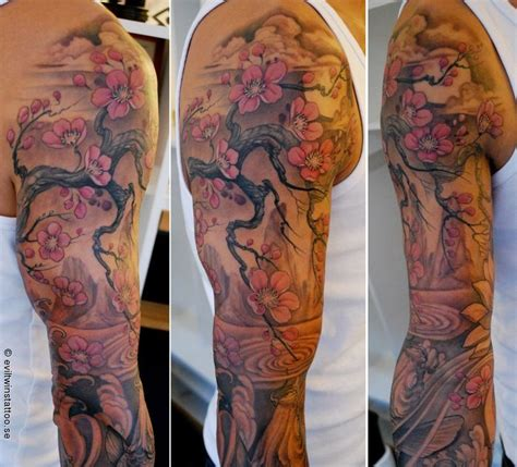 cherry blossom sleeve tattoo designs cherry blossom and japanese sleeve mikes likes