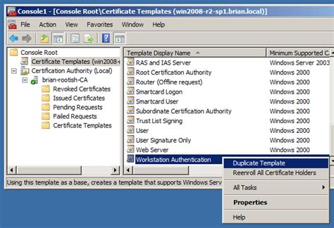 workstation authentication certificate template automating pki certificates for 802 1x authenticat