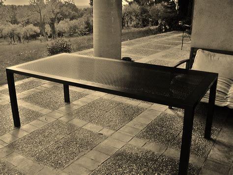 table exterieur metal mes r 233 alisations