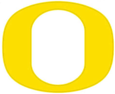 University Of Oregon Gift Card - university of oregon quot o quot large decal yellow ebay