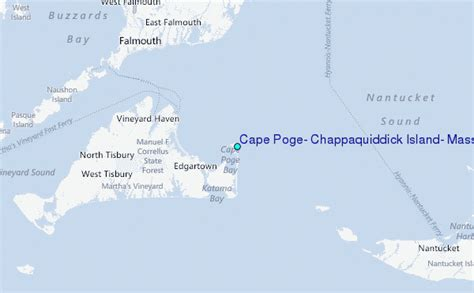 Chappaquiddick Island Map Cape Poge Chappaquiddick Island Massachusetts Tide Station Location Guide