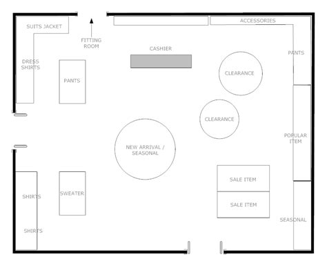 floor plan of a store boutique floor plan