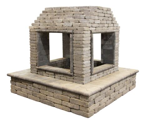 four sided fireplace