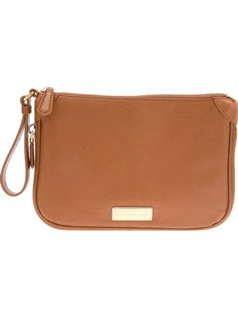 Marc By Marc Embroidered Clutch by Marc By Marc Clutch Bag In Brown Cinnamon Lyst