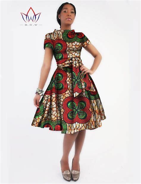 african print party dress new women dress sashes jurken brand clothing african print