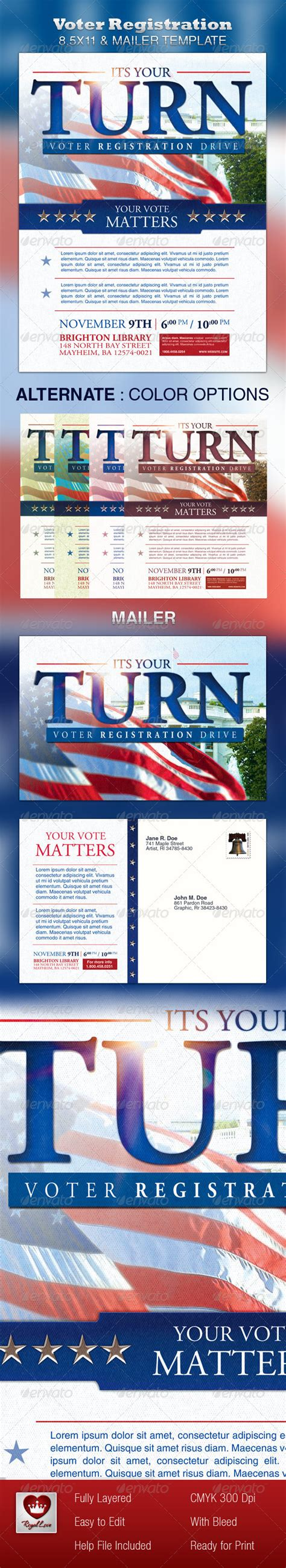 voter registration card template candidate card mailer template 187 dondrup