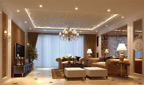 suspended ceiling lighting 3d interior suspended ceiling and chandeliers 3d house