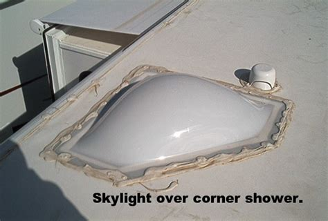 rv bathroom skylight replacement rv skylights square rectangular round