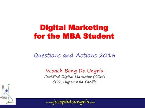 Net For Mba Students by Digital Marketing For The Ateneo Mba Student V68
