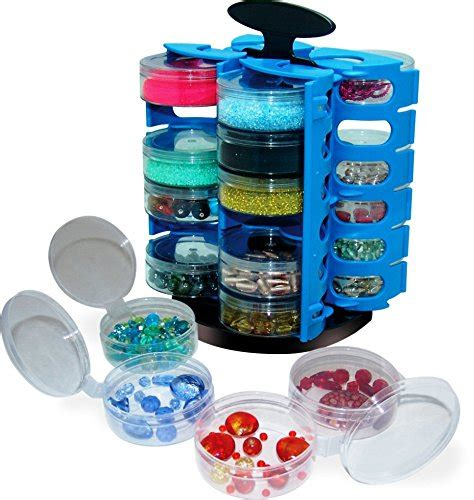 spinning table top bead organizer w free sort tray web