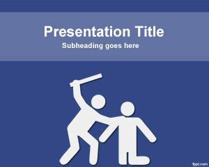 Powerpoint Templates For Violence | violence powerpoint template
