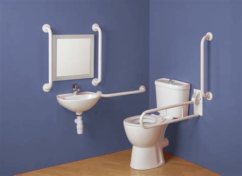 doc m pack disabled bathroom set toilet and sink with grab