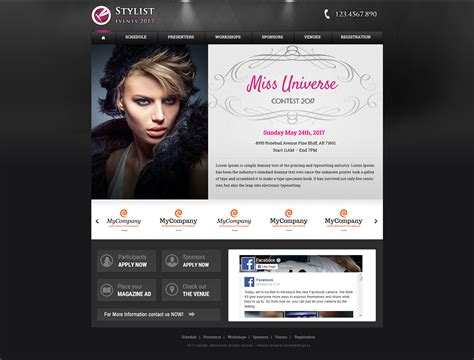 Customizable Website Templates by Fancy Website Templates Crest Model Resume