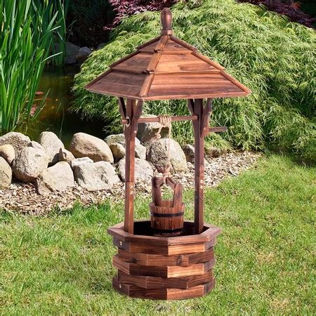 Wishing Well Garden Decor Wooden Garden Feature Wishing Well Home Decor Outdoor Ornament Sales
