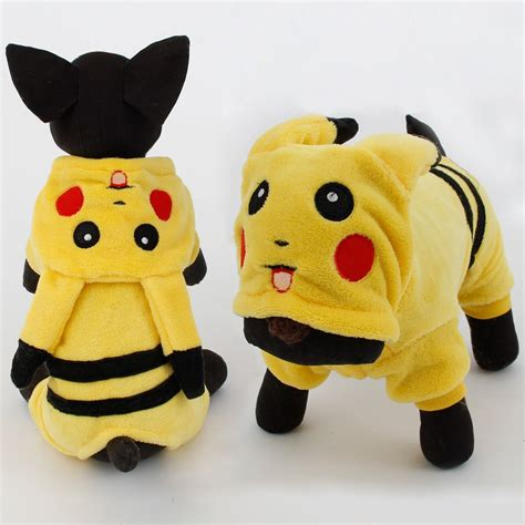 new year costumes for pets new arrival dogs clothes pikachu design