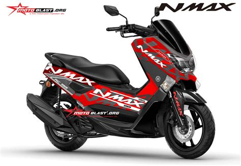 modifikasi motor matic modifikasi motor matic terbaru yamaha nmax striping