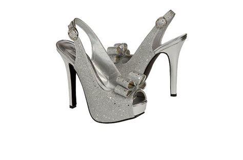 budget wedding shoes silver platform shimmer onewed