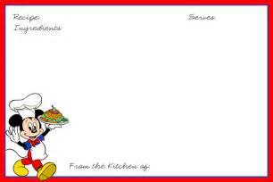 disney recipe cards the dis disney discussion forums