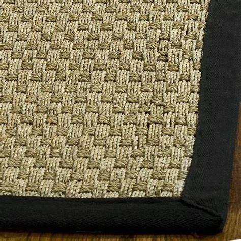 seagrass runner rug safavieh woven sisal black seagrass runner 2 6 x 10 contemporary and