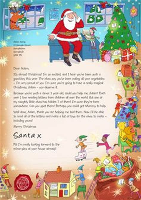 charity santa letter nspcc letter from santa and list 2015