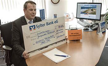 sylter bank banking sylter bank erf 252 llt quot herzenswunsch quot sylt1 das sylter