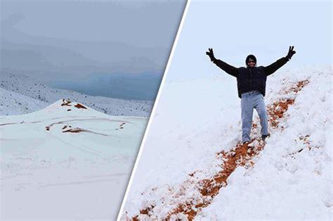 snow in desert snow in desert as photographer captures