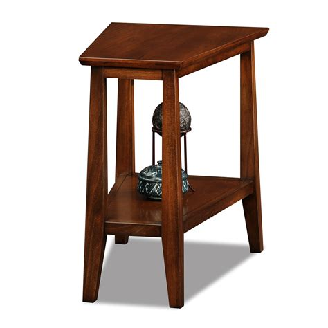 Triangle End Tables leick 10402 delton triangle end table atg stores