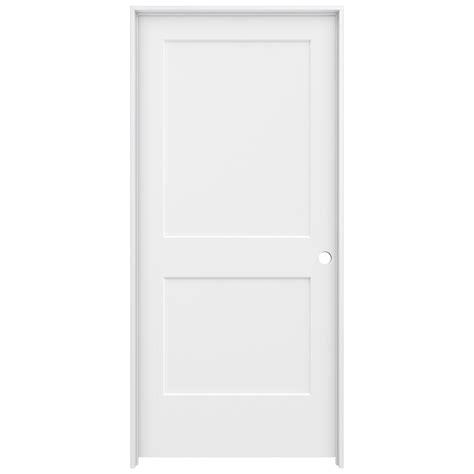 jeld wen interior doors home depot jeld wen 36 in x 80 in primed left smooth solid molded composite mdf single