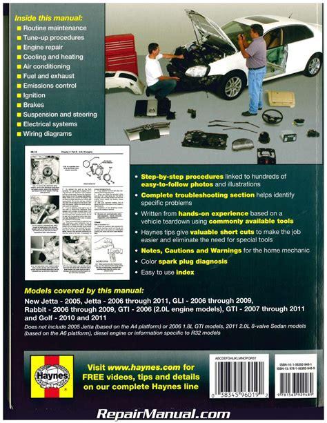 online car repair manuals free 2006 volkswagen rabbit interior lighting haynes vw golf gti jetta rabbit 2006 2011 auto repair manual