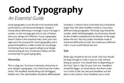 typography hierarchy typography an essential guide creative beacon