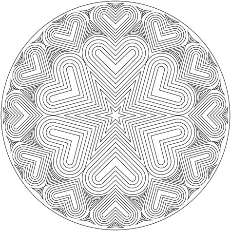 mandala coloring pages hearts free coloring pages mandala free coloring pages
