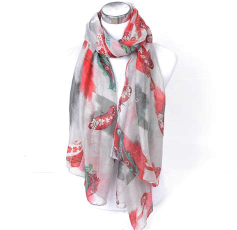Thin Scarves Flower Pattern Tassel floral silk viscose scarf china 28 images 176x108cm