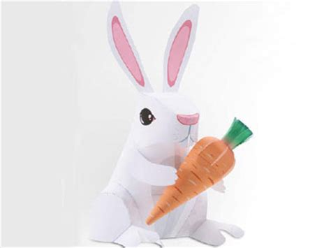 Papercraft Bunny - image papercraft easter bunny paper