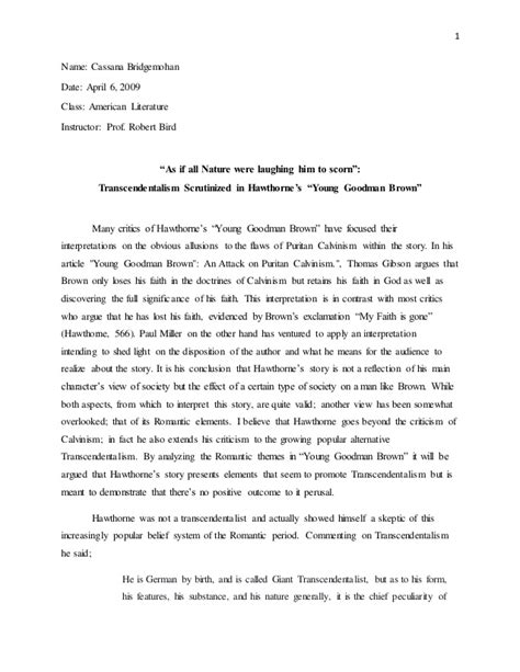 young goodman brown symbolism essay higher education essay