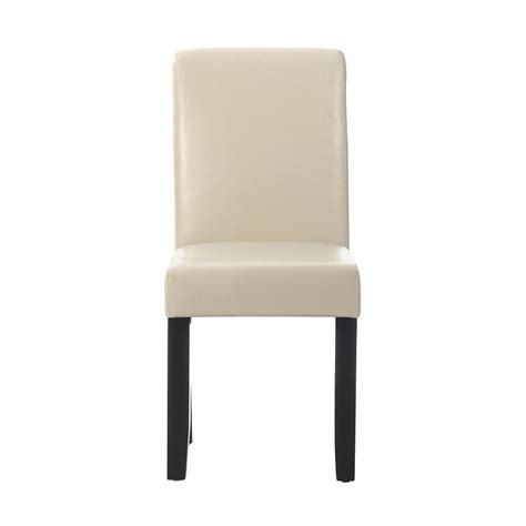 home decorators dining chairs home decorators collection parsons cream bonded leather