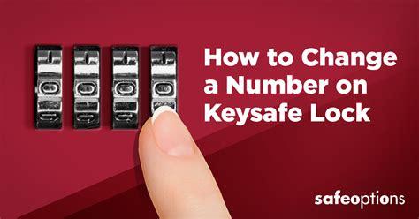 How To Change Number On Keysafe Lock?   Safe Options