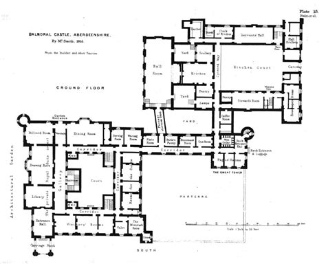 floor plans of castles ground floor plan of balmoral castle balmoral castle