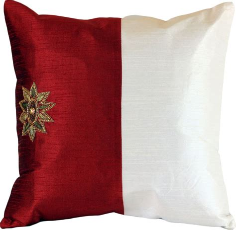 Modern Accent Pillows Modern Two Tone Accent Pillow Cover Set Of 2 Banarsi
