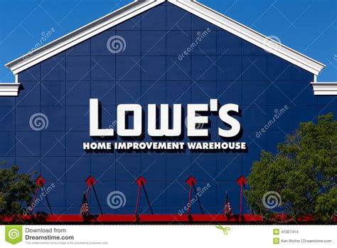 lowe s home improvment warehouse exterior editorial stock