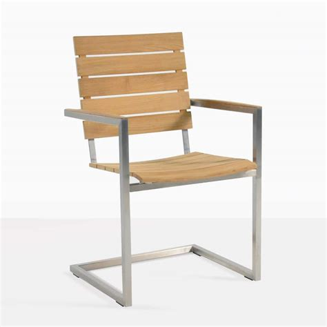 Teak Outdoor Dining Chairs Bruno Stainless Steel Outdoor Dining Chair Teak Teak Warehouse