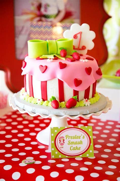 kara s party ideas strawberry shortcake themed first birthday party ideas decor cake