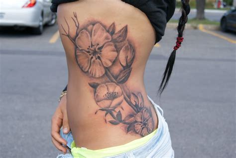 side flower tattoos 35 stunning side tattoos for side designs