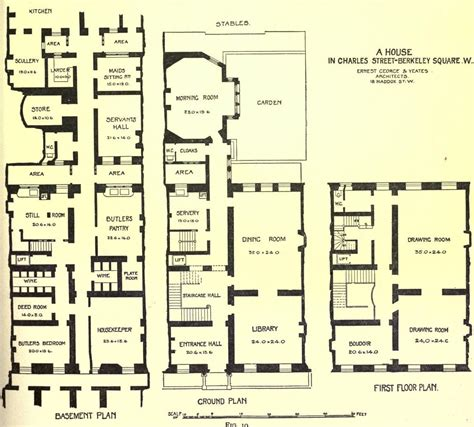 houses in fin de si 232 cle britain floor plans and the