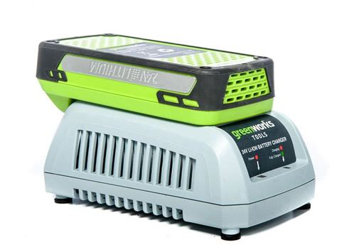 green charger fertilizer greenworks g24ltk2 24v cordless grass trimmer battery
