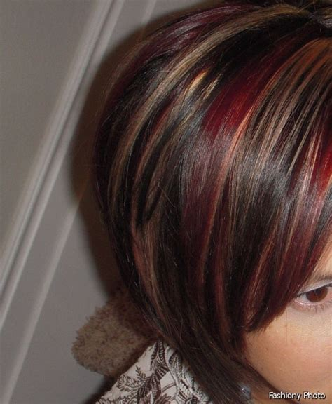 hairstyles with red highlights pictures latest ideas for brown hair with red and blonde highlights