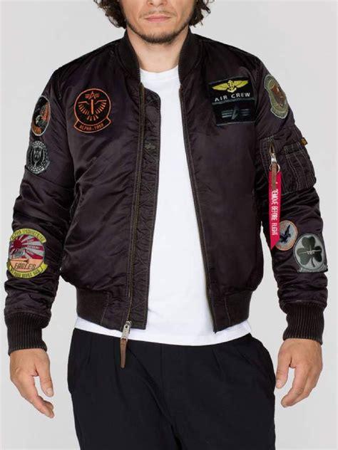 jacket design maker alpha industries mens ma1 pilot designer zip through patch
