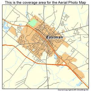 aerial photography map of eastman ga
