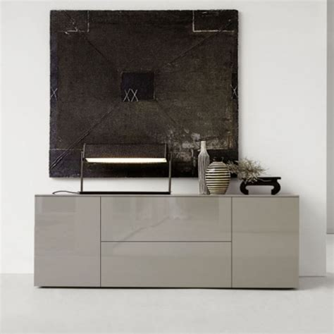 beige lacquered wood credenza drawer living room colors space cream glossy sideboard 180cm