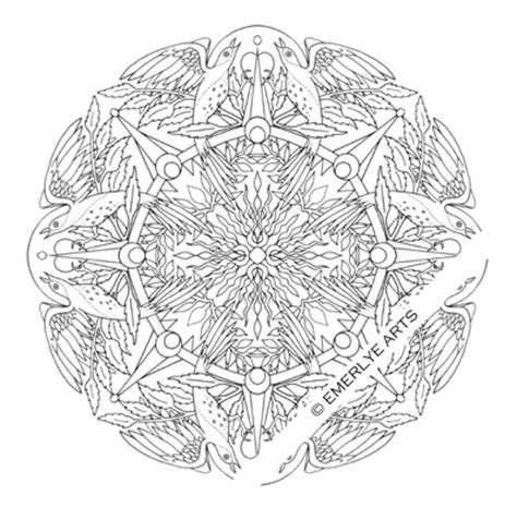 bird mandala coloring pages quot bird quot mandala an adult coloring page my adult